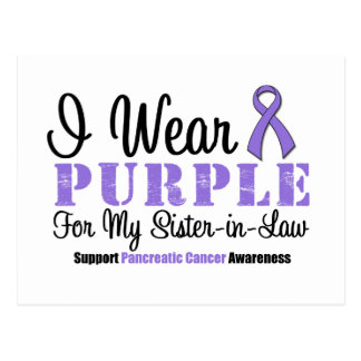 Llevo la púrpura para mi cuñada postal