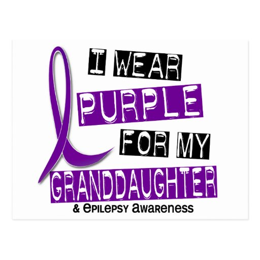 Llevo la púrpura para mi epilepsia de la nieta 37 tarjetas postales