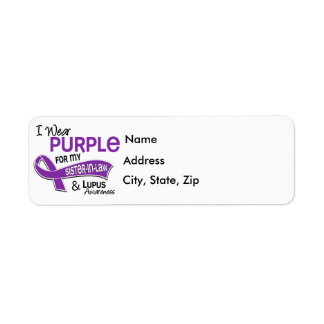 Llevo la púrpura para mi lupus de la cuñada 42 etiqueta de remite