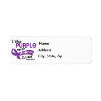 Llevo la púrpura para mi lupus del cuñado 42 etiqueta de remite