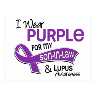 Llevo la púrpura para mi lupus del yerno 42 postal