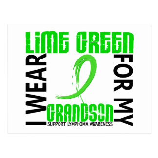 Llevo la verde lima para mi linfoma del nieto 46 postal