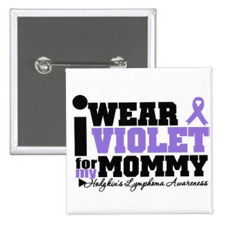 Llevo la violeta para mi linfoma de Hodgkins de la Chapa Cuadrada