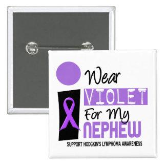 Llevo la violeta para mi linfoma de Hodgkins del Chapa Cuadrada