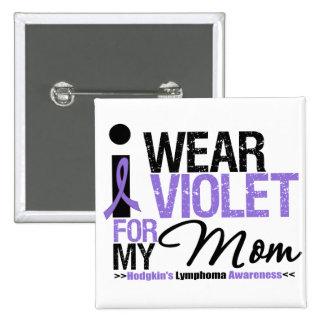 Llevo la violeta para mi mamá chapa cuadrada