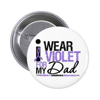 Llevo la violeta para mi papá chapa redonda de 5 cm