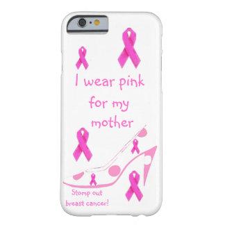 Llevo tributo rosado del cáncer de pecho funda barely there iPhone 6