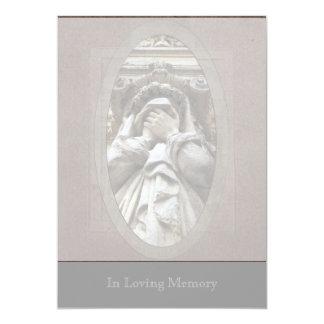 Llorando (2) - Invitación fúnebre (recto/dorso) Invitación 12,7 X 17,8 Cm