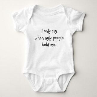 Llorando para la enredadera fea, infantil, blanca body para bebé