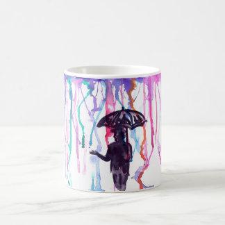 Llover la taza de los colores