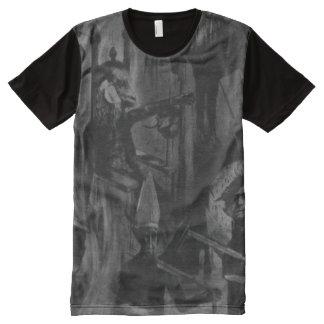 Llover sangre camisetas con estampado integral
