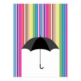 Lluvia coloreada postal