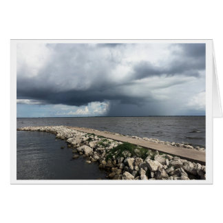 Lluvia de la bahía de Palacios, Palacios, Tejas Tarjeta De Felicitación