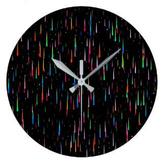 Lluvia del meteorito - reloj de pared