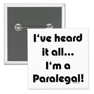 Lo he oído… Paralegal Chapa Cuadrada 5 Cm