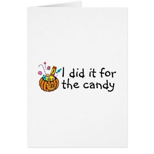 Lo hice para el caramelo (la calabaza) tarjetas