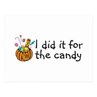 Lo hice para el caramelo (la calabaza) postal