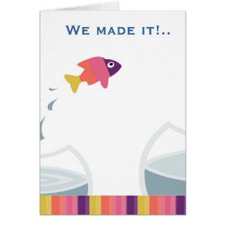 Lo hicimos tarjeta de felicitación