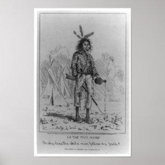 Lo los nativos americanos indios pobres del poster