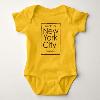 Lo que, New York City para siempre Body Para Bebé
