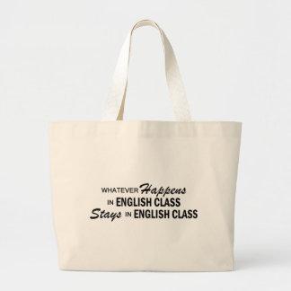 Lo que sucede - clase de inglés bolsa