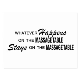 Lo que sucede - dé masajes a la tabla postales