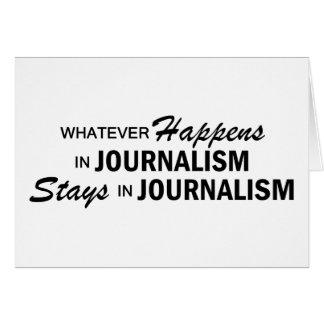 Lo que sucede - periodismo tarjeta de felicitación