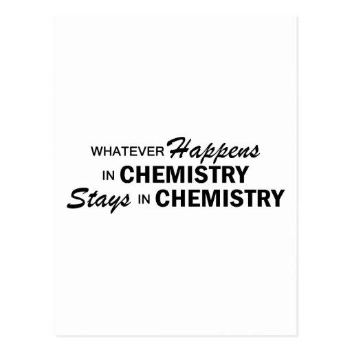 Lo que sucede - química tarjetas postales
