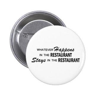 Lo que sucede - restaurante chapa redonda de 5 cm