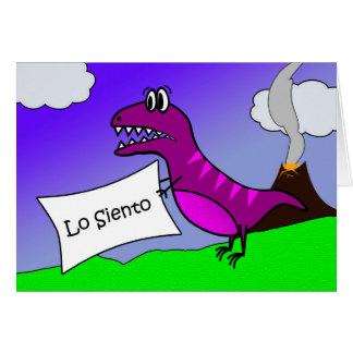Lo Siento, soy disculpa triste en español, Tarjeta De Felicitación