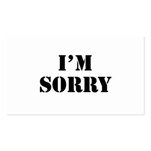 Lo siento plantillas de tarjetas personales