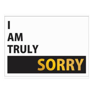 Lo siento verdad postal