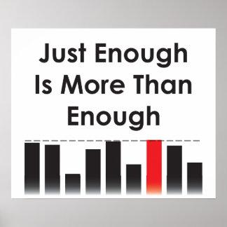 Lo suficiente está más que bastantes póster