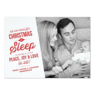 Lo único que queremos para el navidad es tarjeta invitación 12,7 x 17,8 cm