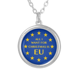 Lo único que quiero para el navidad es UE Collar Plateado