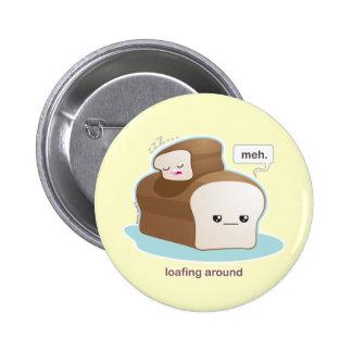Loafing alrededor chapa redonda de 5 cm