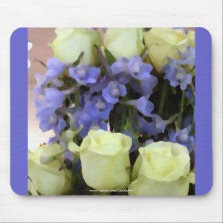 Lobelia azul blanco de los rosas alfombrilla de ratones
