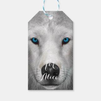 Lobo ártico etiquetas para regalos
