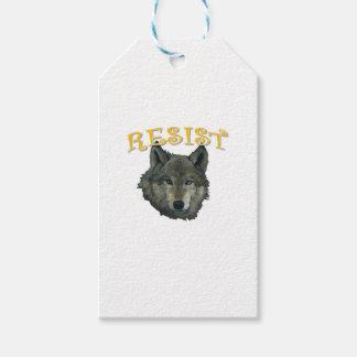 Lobo de la resistencia etiquetas para regalos