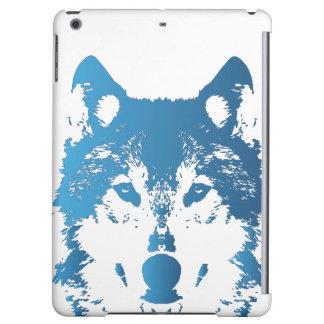 Lobo de los azules claros del ilustracion