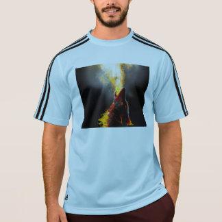 Lobo del fuego camiseta