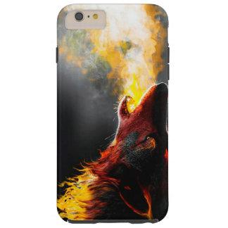 Lobo del fuego funda resistente iPhone 6 plus