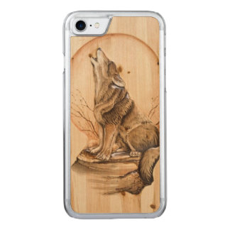 Lobo del grito en el iPhone de madera 6 del arce Funda Para iPhone 8/7 De Carved