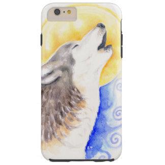 Lobo del grito funda resistente iPhone 6 plus