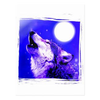 Lobo del grito tarjetas postales