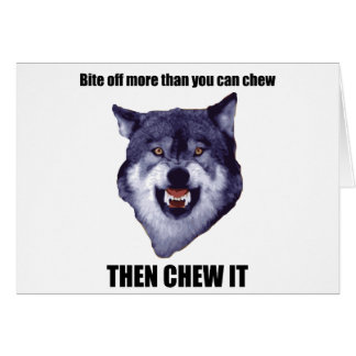 Lobo del valor tarjetas