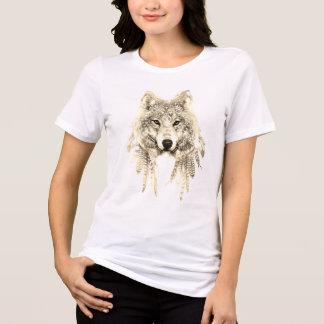 Lobo en camiseta indígena del jersey del ajuste