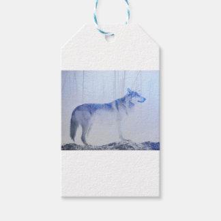 Lobo expuesto etiquetas para regalos