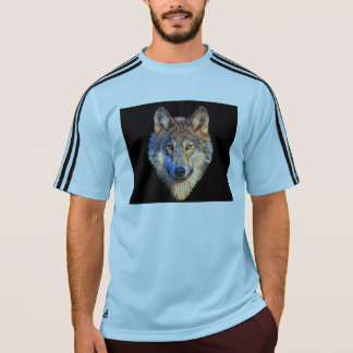 Lobo gris - cara del lobo camiseta