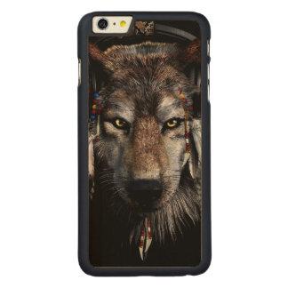Lobo indio - lobo gris funda para iPhone 6 de carved® de arce